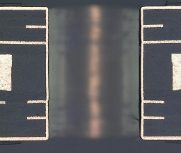 放熱基板ビア断面写真1