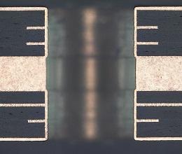 放熱基板ビア断面写真2