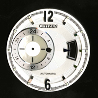 Electrocast pearl oyster shell dial plate